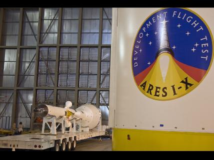 Ares 1-X undergoing assembly