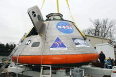 Model of NASA's Orion spacecraft