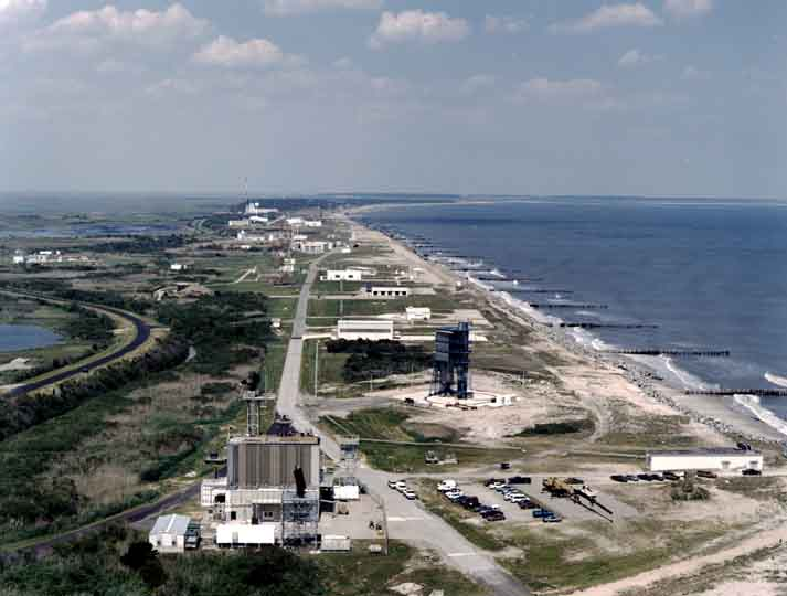 Launch complexes on Wallops Island, Virginia