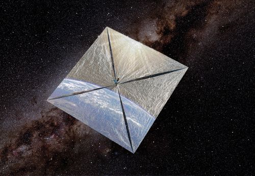 The Planetary Society's LightSail-1 solar sail. Credit: Rick Sternbach/The Planetary Society