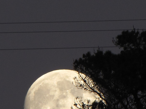 The moon rising over Half Moon Bay. (Credit: Douglas Messier)