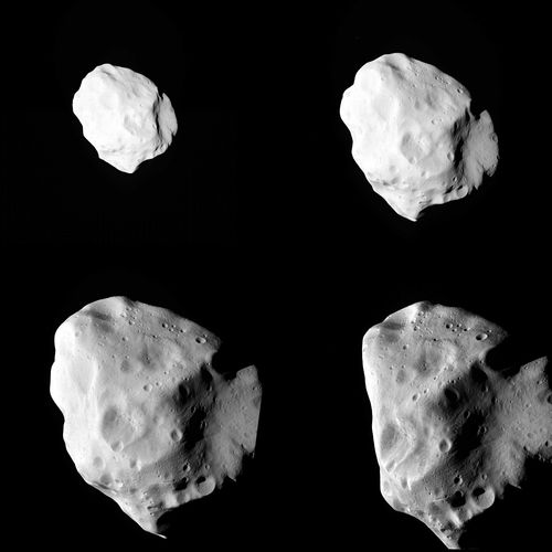 The asteroid Lutetia during a flyby by ESA's Rosetta spacecraft (Credit: ESA)