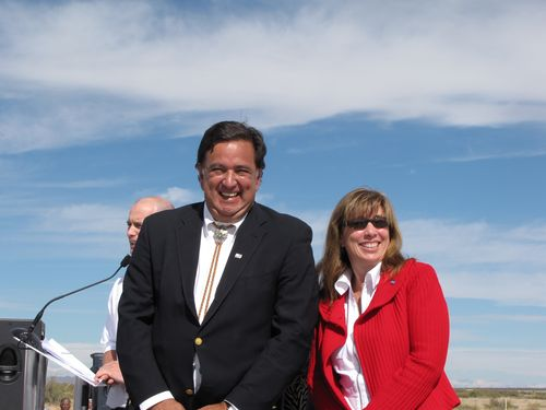 Lori Garver with New Mexico Gov. Bill Richardson at Spaceport America.