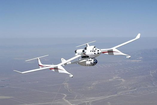 White Knight and SpaceShipOne in flight