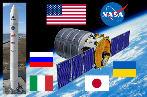 OSC's Taurus II and Cygnus system is almost as global as the International Space Station itself.