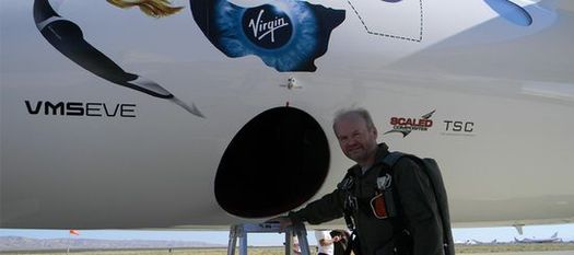 Virgin Galactic Chief Test Pilot David Mackay. (Credit: Virgin Galactic)