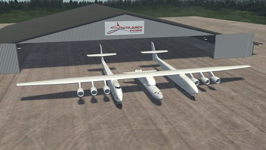 Stratolaunch vehicle. (Credit: Stratolaunch)