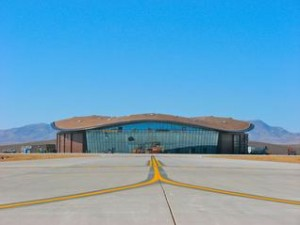 The Terminal Hangar Facility at Spaceport America will house Virgin Galactic's WhiteKnightTwo and SpaceShipTwo. It is also where future tourist astronauts will train for their journey to suborbital space. The beginning of the journey began at Mojave Air & Space Port. (Credit: David Wilson, Spaceport America)