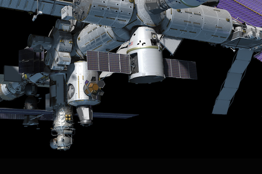 Dragon at Space Station