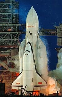 Buran shuttle and Energia rocket.
