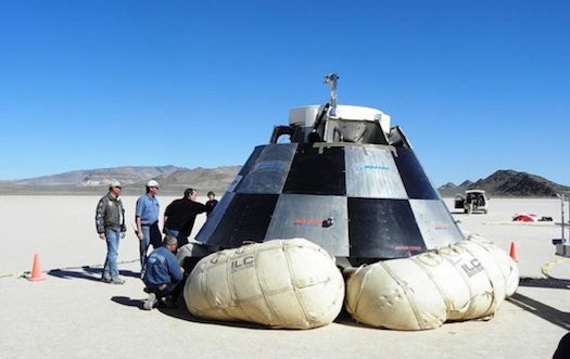 Boeing's CST-100 spacecraft will use landing bags. (Credit: Boeing)