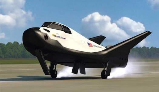 Sierra Nevada Corporation's Dream Chaser shuttle. (Credit: Sierra Nevada)