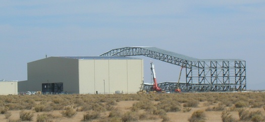 Stratolaunch hangar under construction last year.