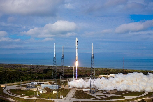 Atlas V launches OTV3 into orbit from Cape Canaveral. (Credit: Pat Corkery, United Launch Alliance.)
