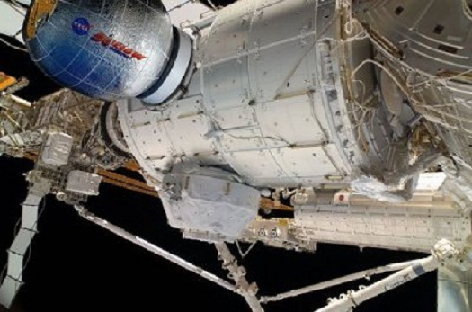 The BEAM module docked at the International Space Station. (Credit: NASA)