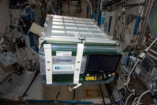 The NanoRacks Plate Reader allows for in-orbit microbiological analysis, increasing life science and biological research. (Credit: NASA)