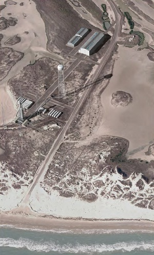 Artist's conception of the proposed SpaceX commercial launch facility near Brownsville, Texas.