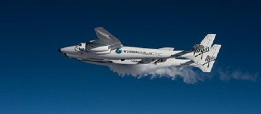 Nitrous venting from SpaceShipTwo prior to a glide flight on April 3, 2013. (Credit: Virgin Galactic)
