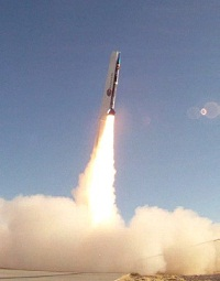 Suborbital rocket launch. (Credit: Bob Martin)