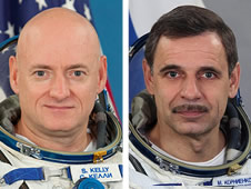 Selected crew members for the one-year mission aboard the International Space Station, U.S. Astronaut Scott Kelly (pictured left) and Russian Cosmonaut Mikhail Kornienko (pictured right). (Credit: NASA)