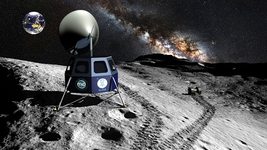 ILOA telescopes on the moon. (Credit: Moon Express)