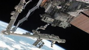 Dextre and Robotic Refueling Mission hardware. (Credit: NASA)