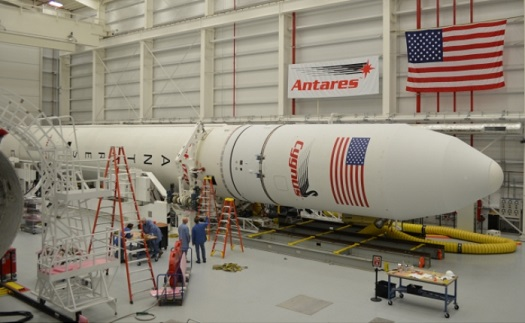The second Antares rocket being prepared for launch. (Credit: Orbital Sciences Corporation)