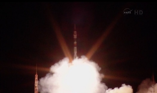 Expedition 37 takes off for the International Space Station. (Credit: NASA)