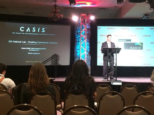 CASIS CEO Duane Ratliff speaks at ISPCS. (Credit: CASIS)