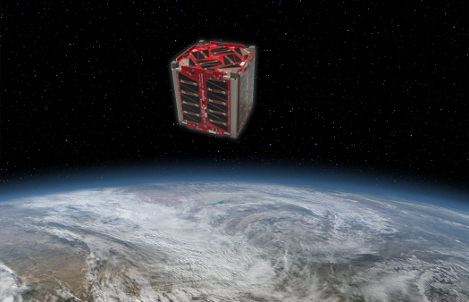 Artist conception of TJ3Sat in orbit. (Credit: Orbital Sciences Corporation)