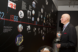 The special exhibit celebrating Neil Armstrong's life is open to the public Sunday through Thursday from 10 a.m. to 5 p.m. until Nov. 27. (Credit: University of Cincinnati)