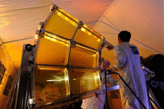 Ball Aerospace & Technologies Corp. is incrementally demonstrating technology needed to deploy a large, 20-meter-diameter, lightweight space-based telescope in geosynchronous orbit as part of the Membrane Optic Imager Real-time Exploitation (MOIRE) program, led by the Defense Advanced Research Projects Agency (DARPA). (Credit: Ball Aerospace & Technologies Corp.)