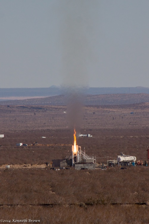 Nitrous nylon engine test on Jan. 16, 2014. (Credit: Ken Brown)