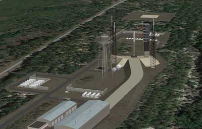 Rendering of Shiloh spaceport (Credit: Space Florida)