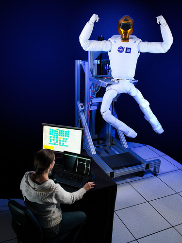With legs, R2 will be able to assist astronauts with both hands while keeping at least one leg anchored to the station structure at all times. (Credit: NASA)