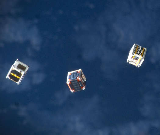 AAC Microtec CubeSats (Credit: NASA)