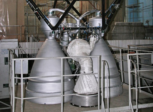 Cyclone 4 second stage main engines undergoing  electropneumatic testing. (Credit: Alcantara Cyclone Space)