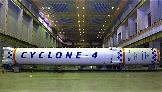Cyclone-4 first and second stages. (Credit: Alcantara Cyclone Space)