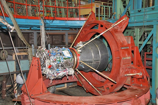Cyclone 4 upper stage main engine structural test. (Credit: Alcantara Cyclone Space)
