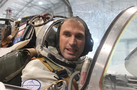 Starfighter Director of Flight Operations Piero Ciacchi after his second pressurized fitting in the cockpit of an SFA F-104. (Credit: Final Frontier Design)