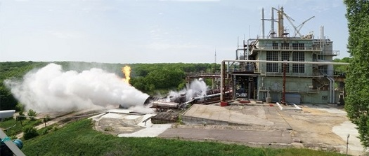 LM10-MIRA engine firing. (Credit: KBKhA)