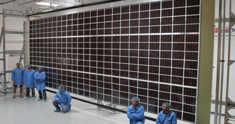 Roll-Out Solar Array (ROSA) Demo (Credit: NASA and Deployable Space Systems)