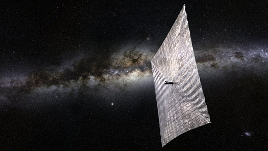 The Planetary Society's LightSail-1 solar sailing spacecraft is scheduled to ride a SpaceX Falcon Heavy rocket to orbit in 2016 with its parent satellite, Prox-1. (Credit: Josh Spradling / The Planetary Society)