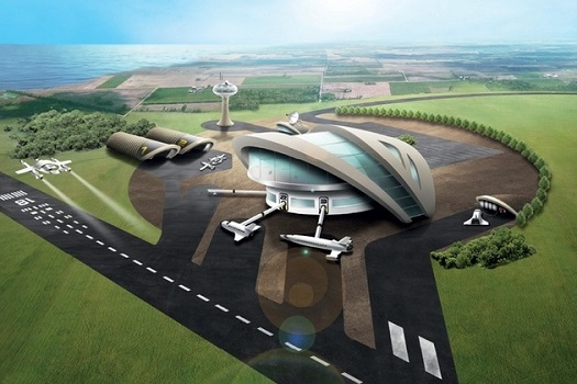 UK spaceport drawing (Credit: UKSA)