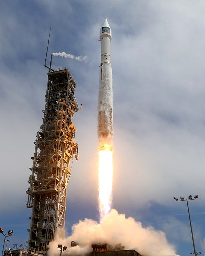 Atlas V launch of WorldView-3 satellite (Credit: ULA)