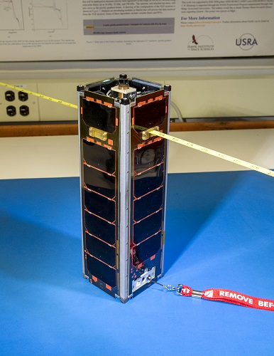 Three cans of soda would fill the Firefly CubeSat to the brim. But don't let its size fool you—NASA has big plans for these tiny satellites. (Credit:  NASA/Bill Hrybyk)