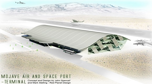 Artist concept of Mojave Air and Space Port terminal.