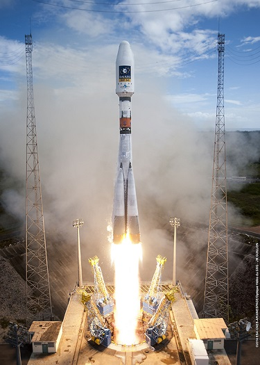 Soyuz launches two Galileo satellites (Credit: ESA)