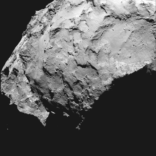 Philae's primary landing site. (Credit: ESA/Rosetta/MPS for OSIRIS Team MPS/UPD/LAM/IAA/SSO/INTA/UPM/DASP/IDA)