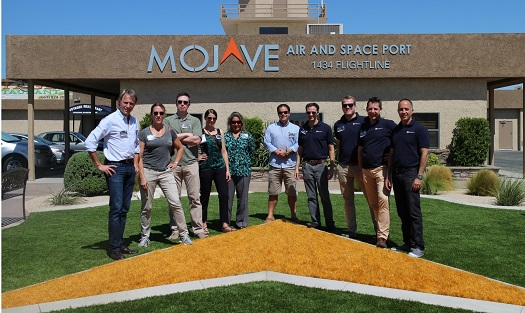 Space Angels trip participants at the Mojave Air and Space Port. (Credit: Space Angels Network)